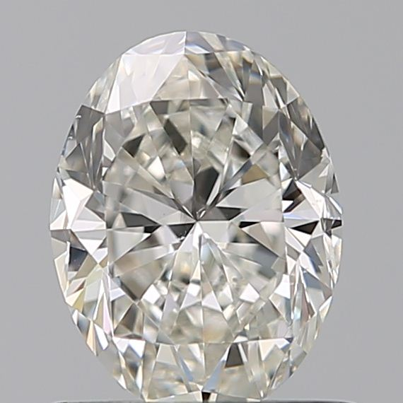 0.70 Carat Oval Loose Diamond, I, VS2, Excellent, GIA Certified