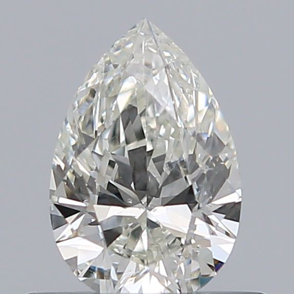 0.42 Carat Pear Loose Diamond, J, SI2, Excellent, GIA Certified