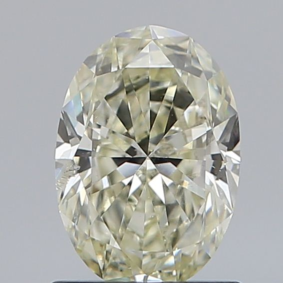 0.88 Carat Oval Loose Diamond, N, SI2, Super Ideal, GIA Certified