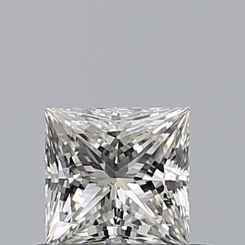 0.50 Carat Princess Loose Diamond, J, SI2, Super Ideal, GIA Certified