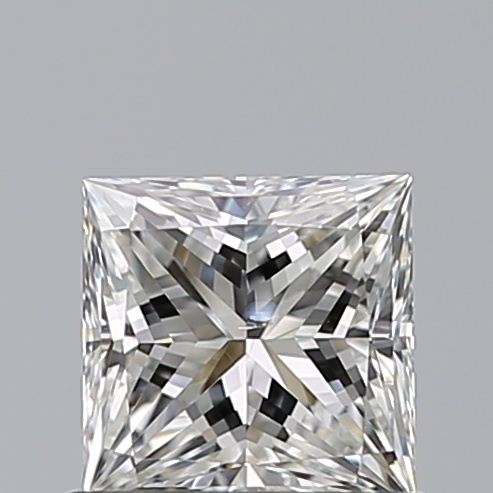 0.70 Carat Princess Loose Diamond, H, SI2, Ideal, GIA Certified
