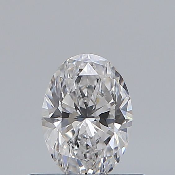 0.43 Carat Oval Loose Diamond, D, VVS2, Super Ideal, GIA Certified