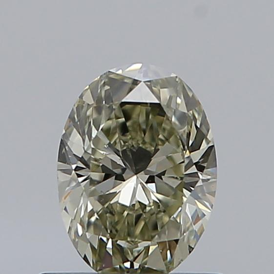 0.59 Carat Oval Loose Diamond, FANCY, SI1, Super Ideal, GIA Certified | Thumbnail