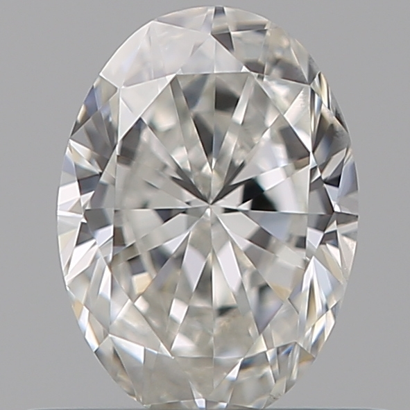 0.50 Carat Oval Loose Diamond, H, SI1, Ideal, GIA Certified | Thumbnail