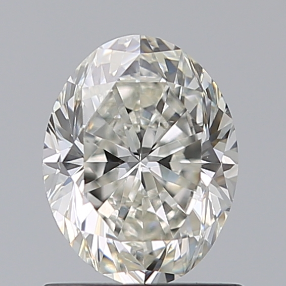 0.90 Carat Oval Loose Diamond, H, VVS2, Excellent, GIA Certified