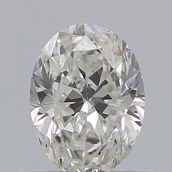 0.50 Carat Oval Loose Diamond, H, VS1, Excellent, GIA Certified