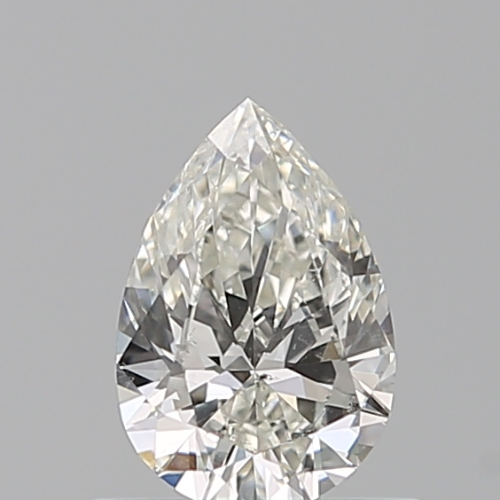 0.50 Carat Pear Loose Diamond, H, SI2, Ideal, GIA Certified