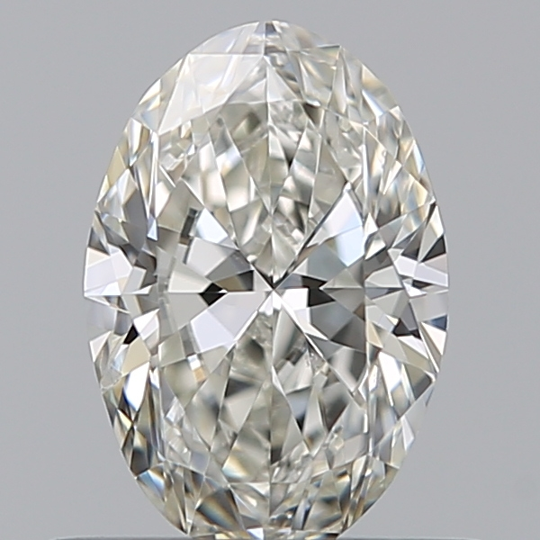 0.50 Carat Oval Loose Diamond, I, SI2, Excellent, GIA Certified