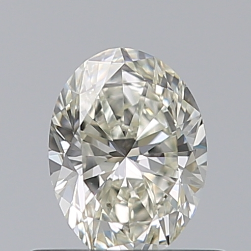 0.50 Carat Oval Loose Diamond, J, VVS2, Ideal, GIA Certified