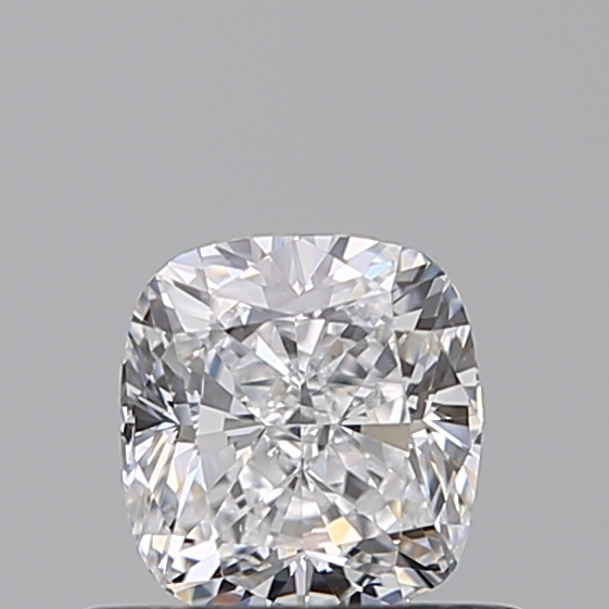 0.50 Carat Cushion Loose Diamond, D, SI2, Ideal, GIA Certified