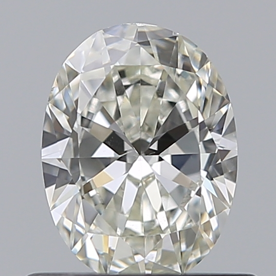 0.50 Carat Oval Loose Diamond, I, VS2, Ideal, GIA Certified
