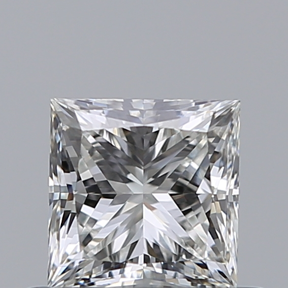 0.50 Carat Princess Loose Diamond, H, VS1, Super Ideal, GIA Certified