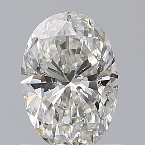 0.70 Carat Oval Loose Diamond, H, I1, Super Ideal, GIA Certified | Thumbnail