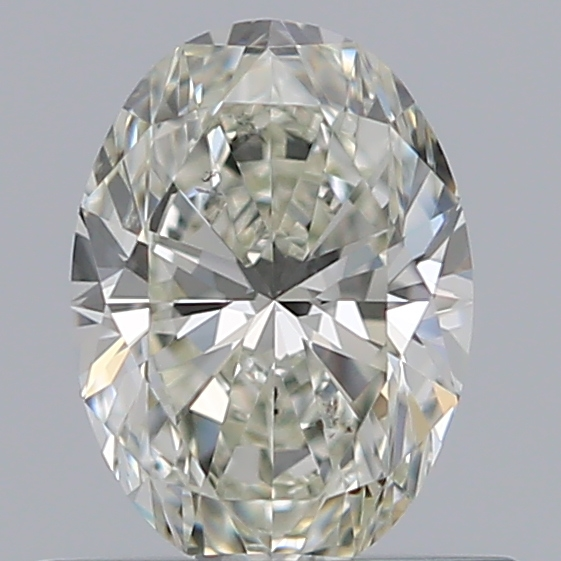 0.50 Carat Oval Loose Diamond, K, SI1, Super Ideal, GIA Certified