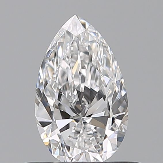 0.46 Carat Pear Loose Diamond, D, VVS1, Ideal, GIA Certified