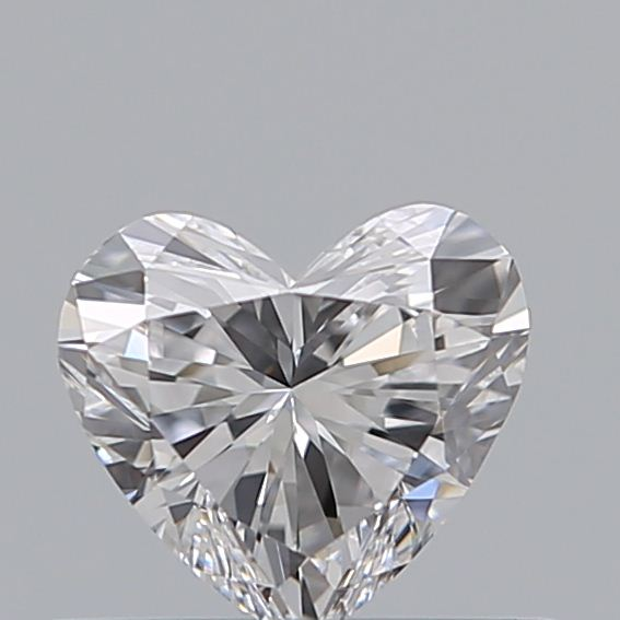 0.41 Carat Heart Loose Diamond, D, VVS2, Ideal, GIA Certified
