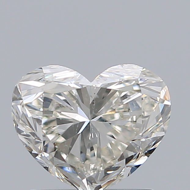 1.00 Carat Heart Loose Diamond, L, SI2, Excellent, GIA Certified