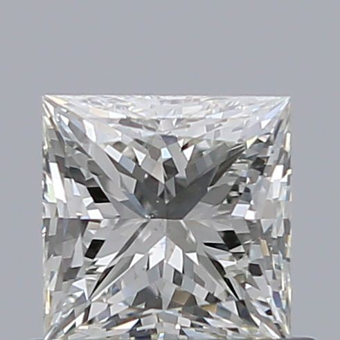 0.59 Carat Princess Loose Diamond, J, SI1, Super Ideal, GIA Certified