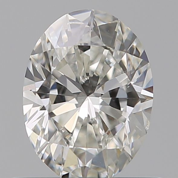 0.52 Carat Oval Loose Diamond, H, VS2, Ideal, GIA Certified | Thumbnail