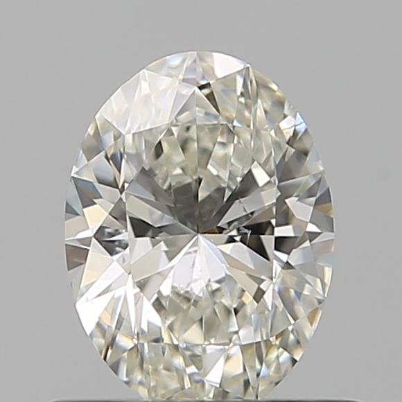 0.50 Carat Oval Loose Diamond, I, SI1, Ideal, GIA Certified
