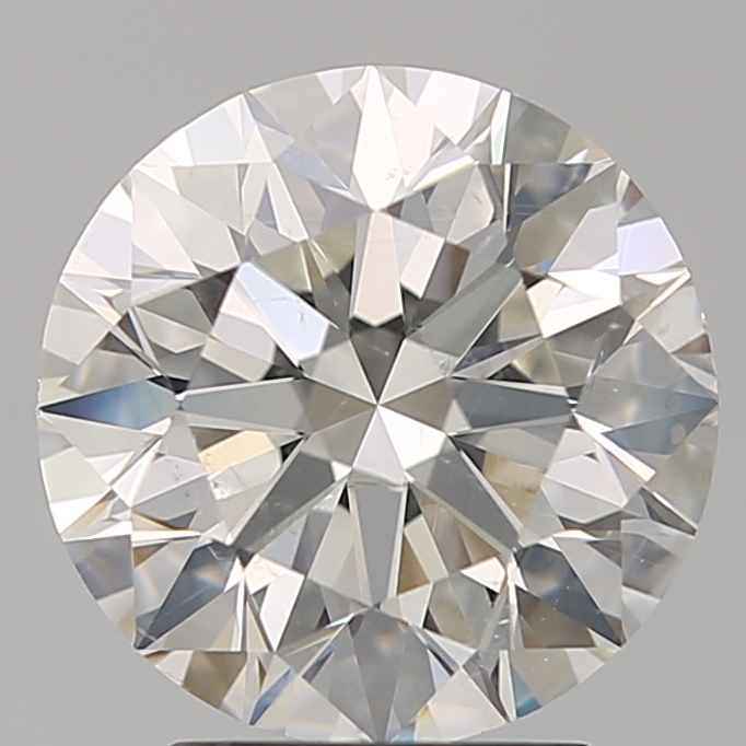 2.71 Carat Round Loose Diamond, H, SI2, Super Ideal, GIA Certified