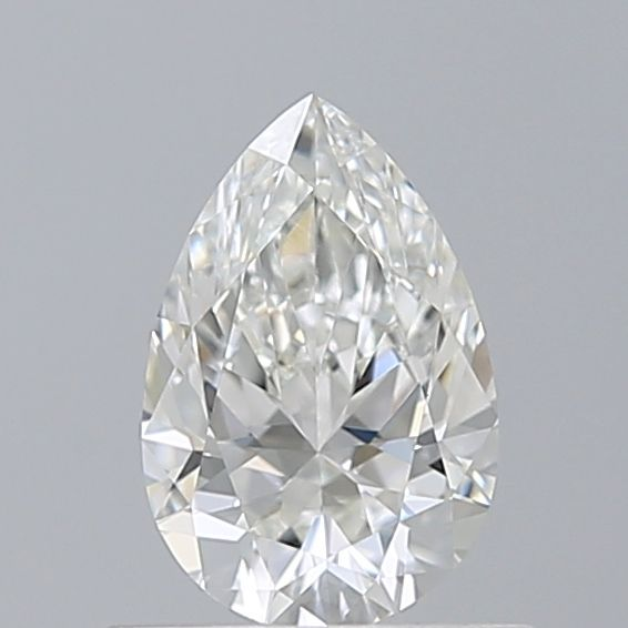 0.50 Carat Pear Loose Diamond, H, VVS1, Super Ideal, GIA Certified