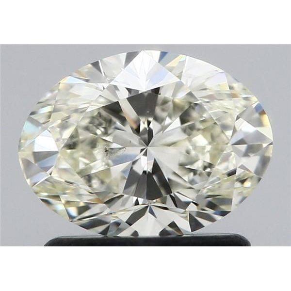 0.96 Carat Oval Loose Diamond, L, SI2, Excellent, GIA Certified