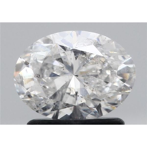 0.96 Carat Oval Loose Diamond, G, I2, Excellent, GIA Certified