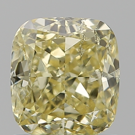1.03 Carat Cushion Loose Diamond, FANCY, I2, Excellent, GIA Certified