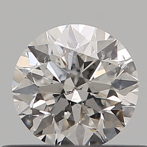 0.41 Carat Round Loose Diamond, F, SI2, Super Ideal, GIA Certified