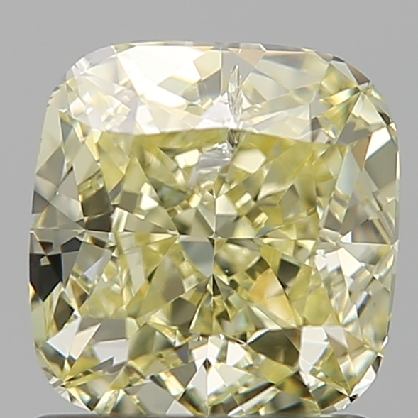 1.24 Carat Cushion Loose Diamond, FANCY, I1, Super Ideal, GIA Certified | Thumbnail