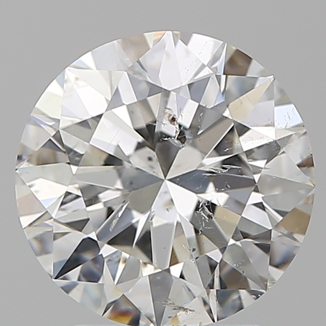 2.40 Carat Round Loose Diamond, G, SI2, Super Ideal, GIA Certified