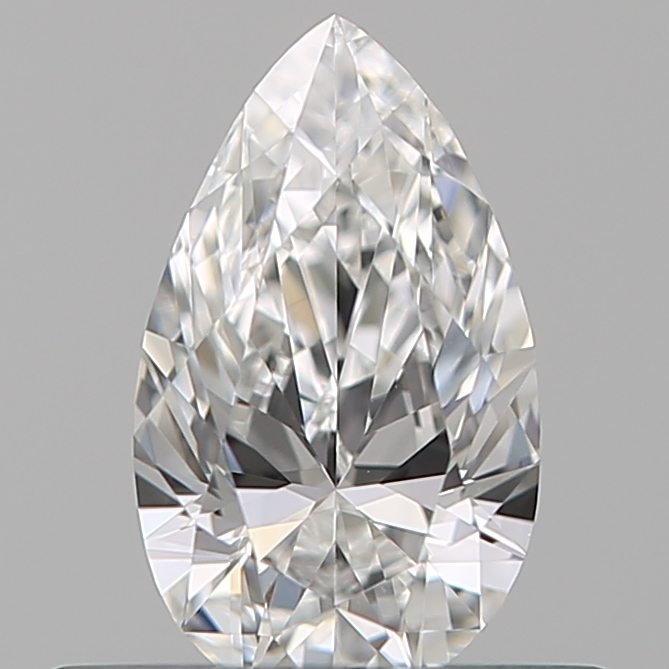 0.40 Carat Pear Loose Diamond, F, VS2, Ideal, GIA Certified
