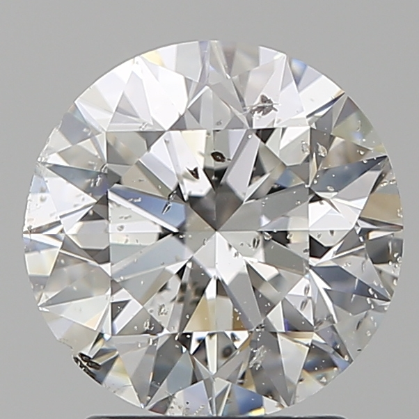 2.00 Carat Round Loose Diamond, F, I1, Super Ideal, GIA Certified