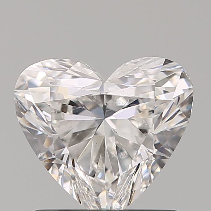 0.90 Carat Heart Loose Diamond, F, SI1, Super Ideal, GIA Certified | Thumbnail