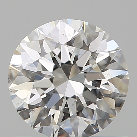 0.53 Carat Round Loose Diamond, G, SI1, Super Ideal, GIA Certified