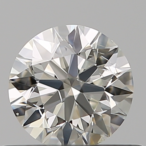 0.46 Carat Round Loose Diamond, I, SI1, Ideal, GIA Certified