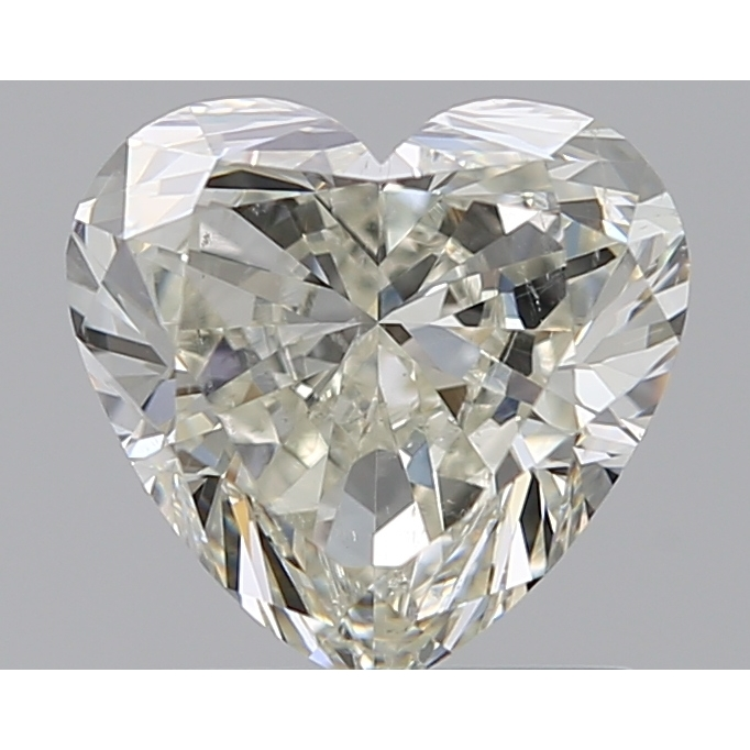 1.01 Carat Heart Loose Diamond, K, VS2, Ideal, GIA Certified