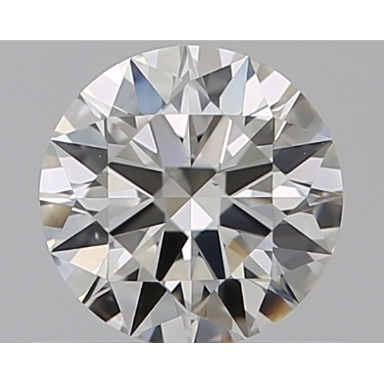 0.46 Carat Round Loose Diamond, J, VS2, Super Ideal, GIA Certified
