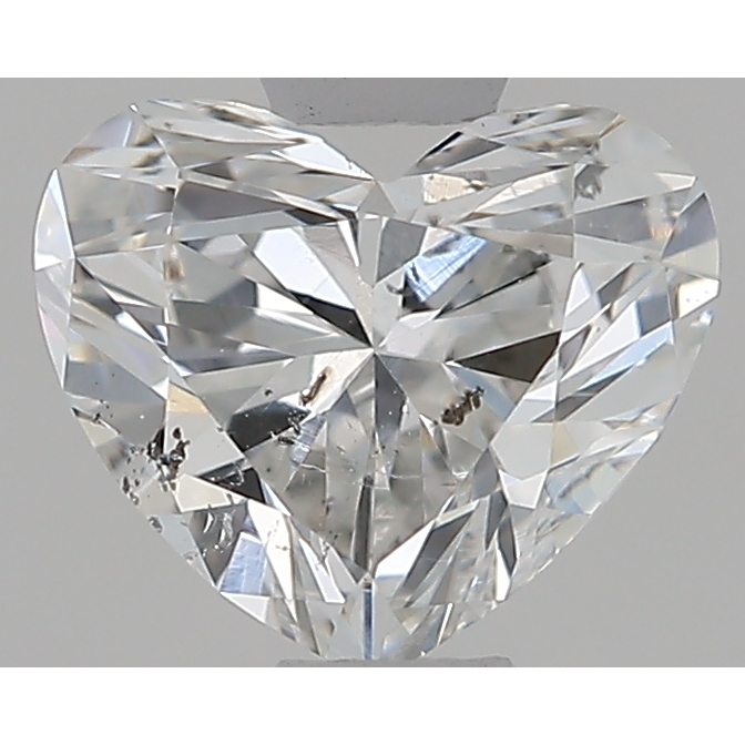 0.50 Carat Heart Loose Diamond, G, SI2, Excellent, GIA Certified