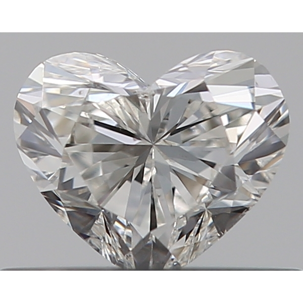 0.33 Carat Heart Loose Diamond, H, SI2, Super Ideal, GIA Certified | Thumbnail