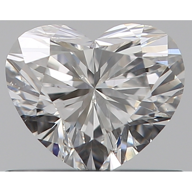 0.50 Carat Heart Loose Diamond, F, VS2, Super Ideal, GIA Certified