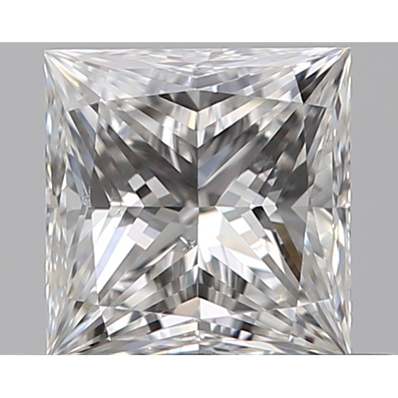 0.42 Carat Princess Loose Diamond, E, VS2, Ideal, GIA Certified