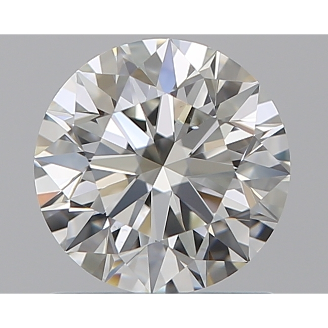 0.90 Carat Round Loose Diamond, I, VS2, Super Ideal, GIA Certified