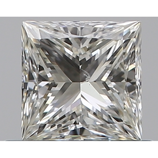 0.50 Carat Princess Loose Diamond, J, SI1, Super Ideal, GIA Certified