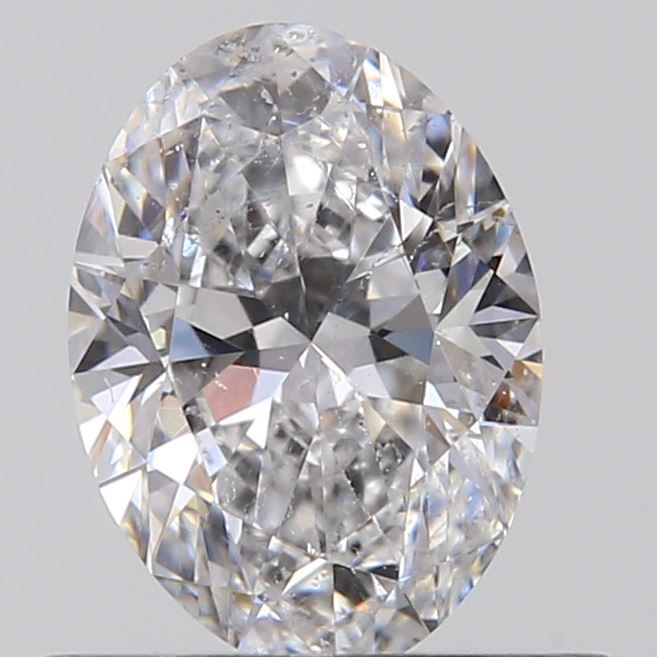 0.51 Carat Oval Loose Diamond, D, SI2, Super Ideal, GIA Certified | Thumbnail