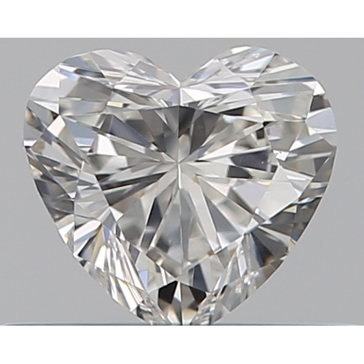 0.33 Carat Heart Loose Diamond, H, VS1, Ideal, GIA Certified