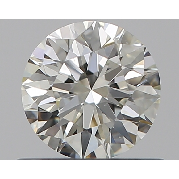 0.50 Carat Round Loose Diamond, K, VS1, Super Ideal, GIA Certified