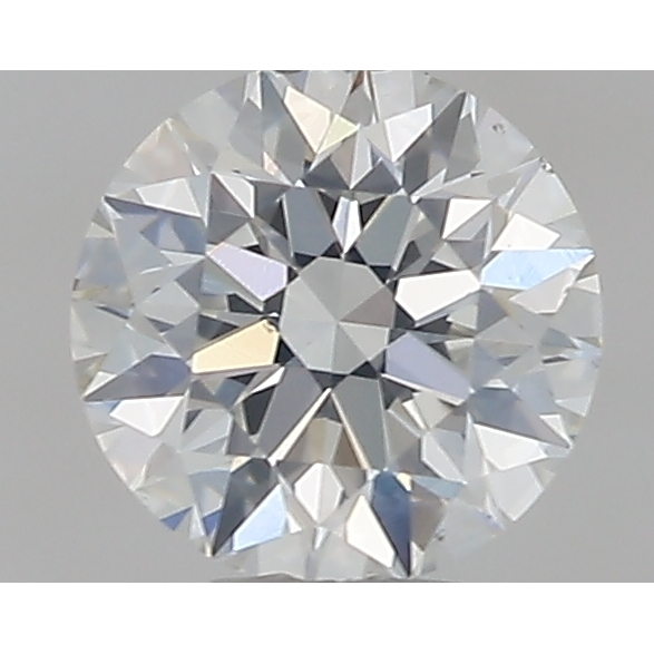 0.35 Carat Round Loose Diamond, H, SI1, Super Ideal, GIA Certified