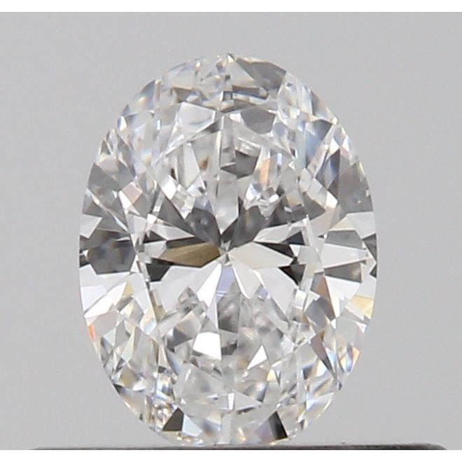 0.30 Carat Oval Loose Diamond, D, VVS2, Excellent, GIA Certified